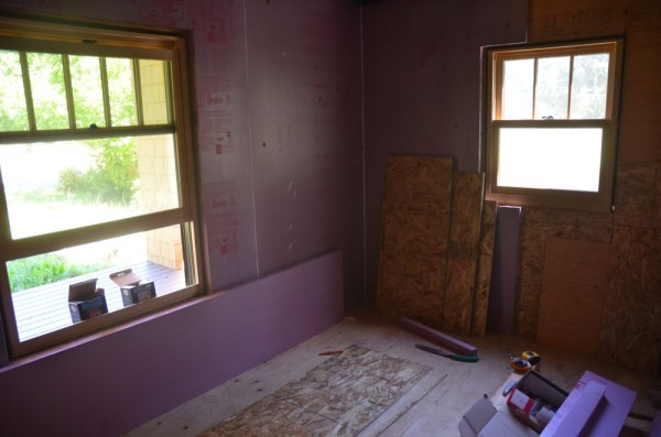 OSB for shear and 2 inch airtight foam for thermal break
