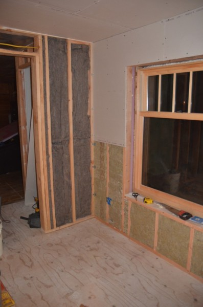 Inner walls insulated