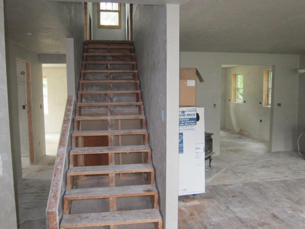 Plaster downstairs
