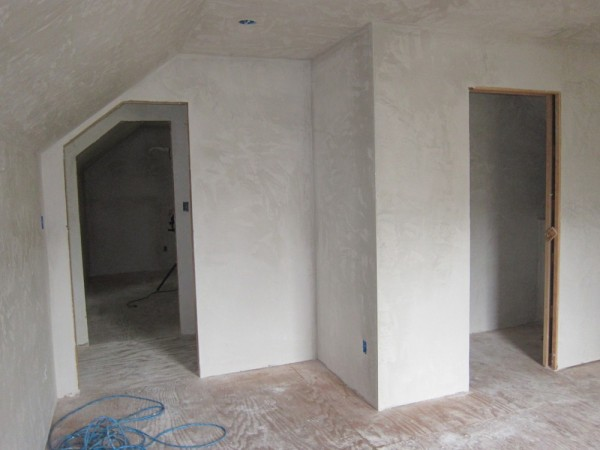 Plaster upstairs